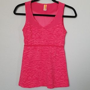 Lucy pink yoga work out tank XS